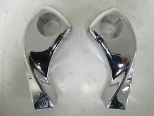 """Show Chrome 4"""" Twisted Motorcycle Handlebar Risers for 1"""" Bars"""