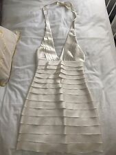 BCBG Maxazria Tier Satin Halter Dress Size 4