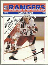 February 24, 1991 Rangers vs Devils Hockey Program--Shaw