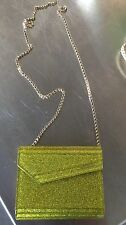 Jimmy Choo Cross body Clutch In Yellow Glitter Finish. Great Condition!