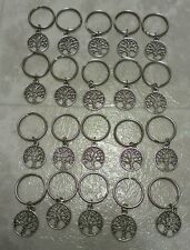 Lot of 20x Mini metal TREE of LIFE Wholesale Keychain Keyring Key Chain Charm