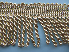 "Twisted Rope Tassel Trim 9CM 3.5"" Bullion Fringe 18 DIFFERENT COLOURS X ONE YD"