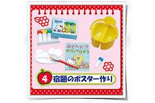 Re-ment Miniature Hello Kitty Elementary School Study Desk Art Painting - No.4