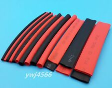160Pcs2: 1 Heat Shrink Tubing  Pipe Wrap Wire 8 Sizes  Red, Black each 10cm