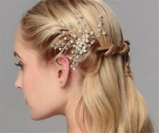 Bridal Hair Accessories Rhinestone Wedding Headdress Pearls Hair Pins 1 Piece