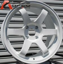 17X9.5 ROTA GRID WHEELS 4X114.3 RIMS 12MM WHITE S13