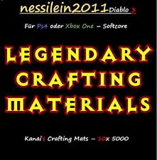 Diablo 3 Ros Ps4/Xbox One - Crafting Mats - 10 x 5.000 Mats - Softcore