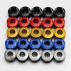UN3F 5pcs Super Light 7075 T6 Alloy CNC Chain Ring Bolt Road MTB Disct Screws