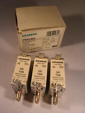 NEW* SIEMENS  FUSE LINK 3NA3 803 / 3NA3803 / 10A 500V 120kA **BOX OF 3**