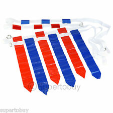 Flag Football Set - 12 Belts + 36 Flags (18 Red Flags & 18 Blue Flags)