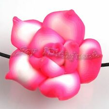 30x Wholesale Charms Hotpink Flower Fimo Beads Fit Jewelry Making 25mm 111653