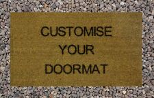 Personalised Engraved Coir Door Mat Your Text Here 40cm x 70cm Interior Mat