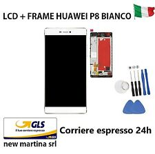 "Display completo HUAWEI P8 GRA-L09 5,2"" BIANCO Touch screen + LCD + Frame WHITE"
