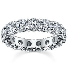 5.00CT ROUND CUT DIAMOND FULL ETERNITY RING 14K WHITE GOLD ANNIVERSARY BAND RING