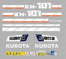 KUBOTA KH101 MINI DIGGER COMPLETE DECAL SET WITH SAFETY WARNING SIGNS
