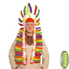 INDIAN HEAD-DRESS SITTING BULL CHIEF HALLOWEEN - fancy dress accessory