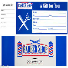 Barber Shop  GIFT CERTIFICATES BOOK , Book of 50 coupons