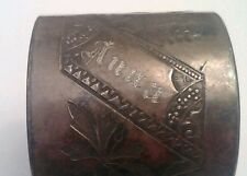"SIMPSON HALL MILLER  VICTORIAN SILVER PLATE  NAPKIN HOLDER RING ""ANNA"" 1879"