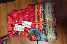 NEW DESIGUAL GIRL'S REVERSIBLE VEST size Y (7-8) WITH CARRYING POUCH