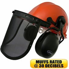 Chainsaw Safety Kit. Helmet with ear muffs, face shield . Safety Helmet