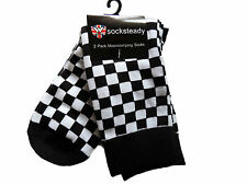 Warrior Ska 2Tone Socksteady Socks pack 2 pairs Mod Scooter Skinhead Checkered
