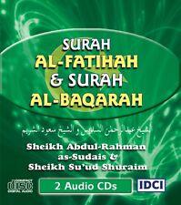 Surah Al-Fatihah & Al-Baqarah - 2 Audio CDs  (Sheikh Sudais & Shuraim - SFB1)