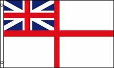 3'x5' UK WHITE ENSIGN BRITISH FLAG ROYAL NAVY UNION JACK CROSS OF ST GEORGE 3X5