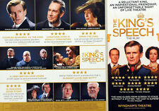 2 X THE KING'S SPEECH WYNDHAMS THEATRE FLYERS - CHARLES EDWARDS JONATHAN HYDE