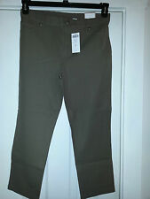 $75 CHICO'S Ultimate Fit Cropped GETAWAY 5-pocket-Pants-Brown size 1 NEW
