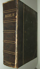 Antique 1865 Illustrated Douay Rheims Catholic Holy Bible Flannery Family Bible