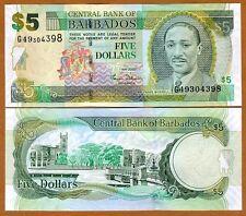 Barbados, $5, 2007, P-67a UNC