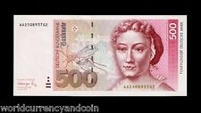 GERMANY 500 MARKS P43 1991 EURO BUTTERFLY CATERPILLAR RARE UNC CURRENCY BILLNOTE