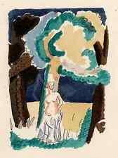 Acto femenina-Adolphe resorte colorierte litografía en perrigot bütten