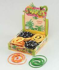 "Fake Rubber Snakes 42"",Assorted Colours,Halloween,Animal Prop, Fancy Dress #US"
