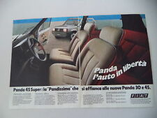 advertising Pubblicità 1983 FIAT PANDA 45 SUPER