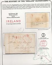 * 1801 EARLIEST? H/S RED IRELAND ON FREE LETTER LUKE NORMAN   HON JOHN BERESFORD