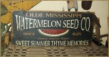 PRIMITIVE SUMMER SIGN~~WATERMELON SEED CO~~SWEET SUMMER TIME~~