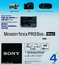 Sony Memory Stick Pro Duo 4GB Speicherkarte Memory Stick 4GB MS Pro Duo NEU&OVP