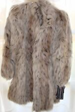 Ladies (Size 9/10) vintage faux fur coat (Lynx) - New In Box
