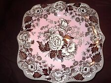 "NEW SPODE Archive ""British Flowers- Poppy"" Luncheon Plate- MINT!"