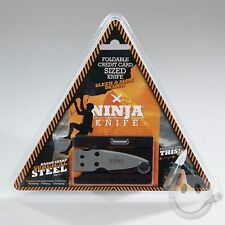 NEW Ninja Knife Wallet STEEL CREDIT CARD FOLDABLE As Seen on TV MIP Unfolds