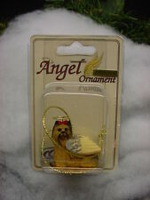 YORKIE puppy DOG ANGEL ORNAMENT Figurine Statue YORKSHIRE TERRIER COLLECTIBLE