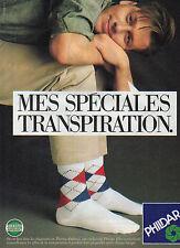 Publicité 1986 Chaussettes PHILDAR thermo ambiant  Mes spéciales transpiration !