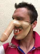 Funny Half Face Big Dick Nose Mask Willy Face Teeth Fancy Dress Stag Hen Party