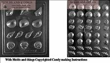 SeaShells chocolate candy mold, Tiny shell chocolate candy mold