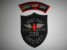 """2 Vietnam War Patches: 236th DUSTOFF + 236th MEDICAL DET """"Strive To Save Lives"""""""
