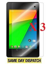 3 X GOOGLE NEXUS 7 2 2ND GEN 2013 Clear LCD Screen Protectors Cover Film & Cloth
