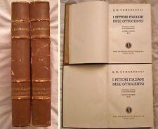 COMANDUCCI - I PITTORI ITALIANI DELL'OTTOCENTO ANNO 1934 - 2 VOL - Ed  Numerata