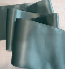 """4"""" WIDE SWISS DOUBLE FACE SATIN RIBBON - BLUE HAZE  - BY THE YARD"""