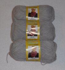 Bernat Cotton-ish Yarn Lot Of 3 Skeins (Grey T-Shirt #85044) 2.4 oz. Skeins